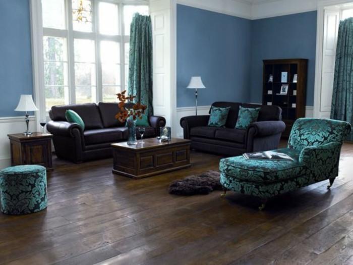 wohnzimmer-in-braun-und-grun-akzente-mit-dunkle-mobel