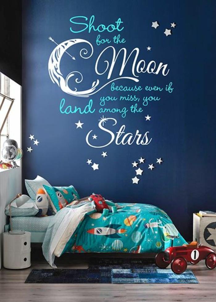 1-schlafzimmer-kinder-blaue-wände-kosmos