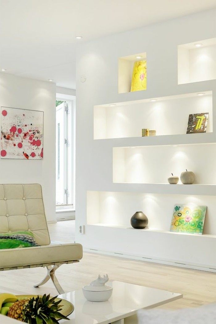 Wanddeko Wohnzimmer - dekorative Wandnischen