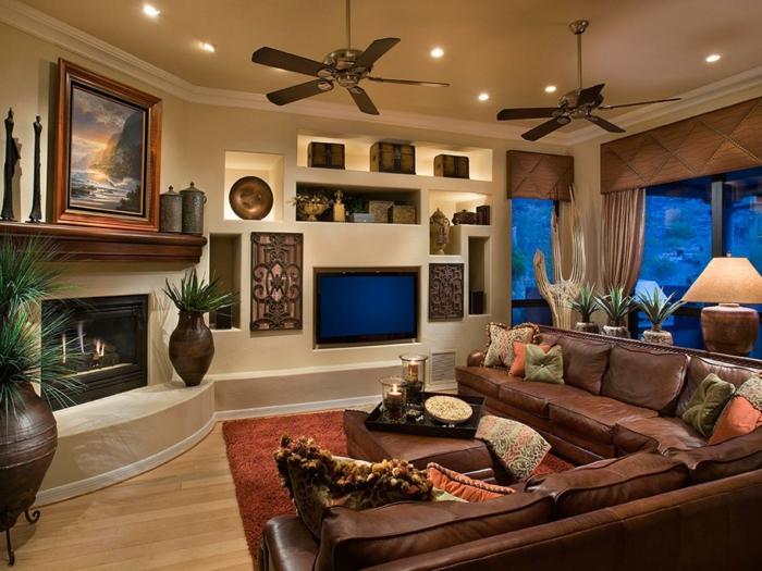 wanddeko wohnzimmer frischer hauch - Wohnzimmer Schick