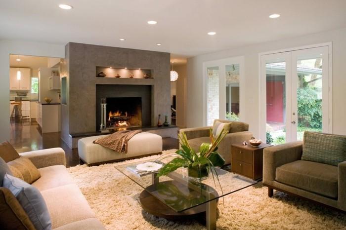 1diskretundzeitgenossisch wohnzimmer ubergang kuche esszimmer garten feuerstelle - Wohnzimmer Kuche Esszimmer