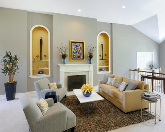 1wohnzimmer Am Zweiten Stock Verschiedene Farben Zu Hause