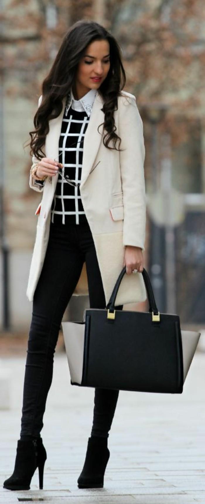 3-business-kleider-elegantes-hemd-beige-mantel-schwarze-hose-schwarze-tasche