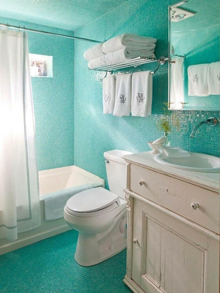 badezimmer-ideen-fur-kleine-bader-grune-mosaik