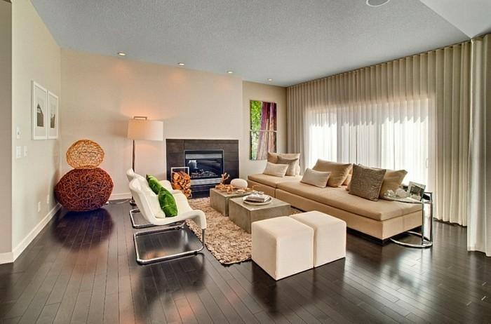 feng-shui-deko-fur-wohnzimmer-und-elegante-wohnzimmer-gardinen-ideen