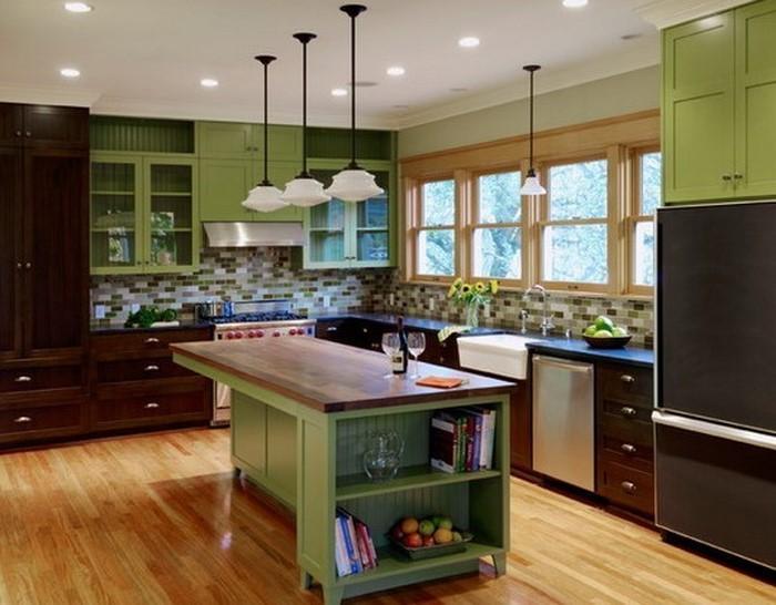 arbeitsplatten küche in grün  Die Küche in Grün gestalten das
