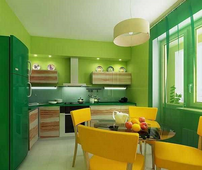 Accent Colors For Green Kitchen