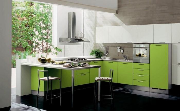 Einbauküchen günstig in grün ein außergewöhnliches interieur