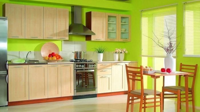 Die k che in gr n gestalten das fr hliche gr n - Colores de pintura para cocinas modernas ...
