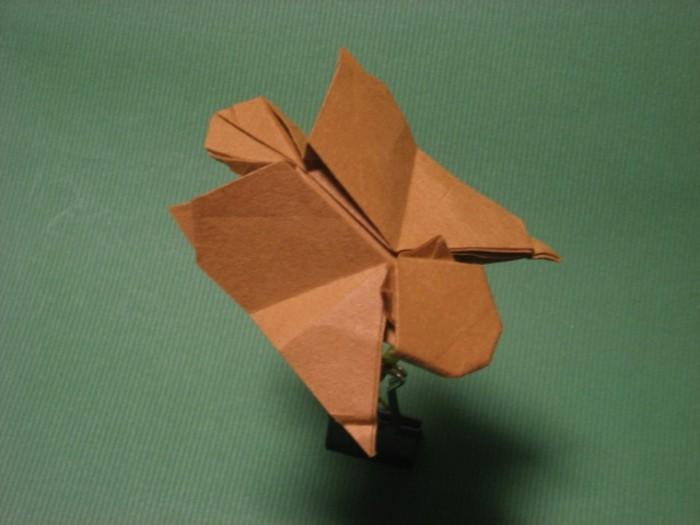 bastelideen-fur-kinder-origami-eichhornchen-basteln