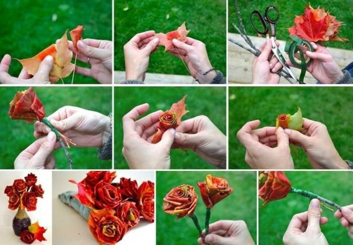 basteln-fur-den-herbst-rosen-aus-blattern