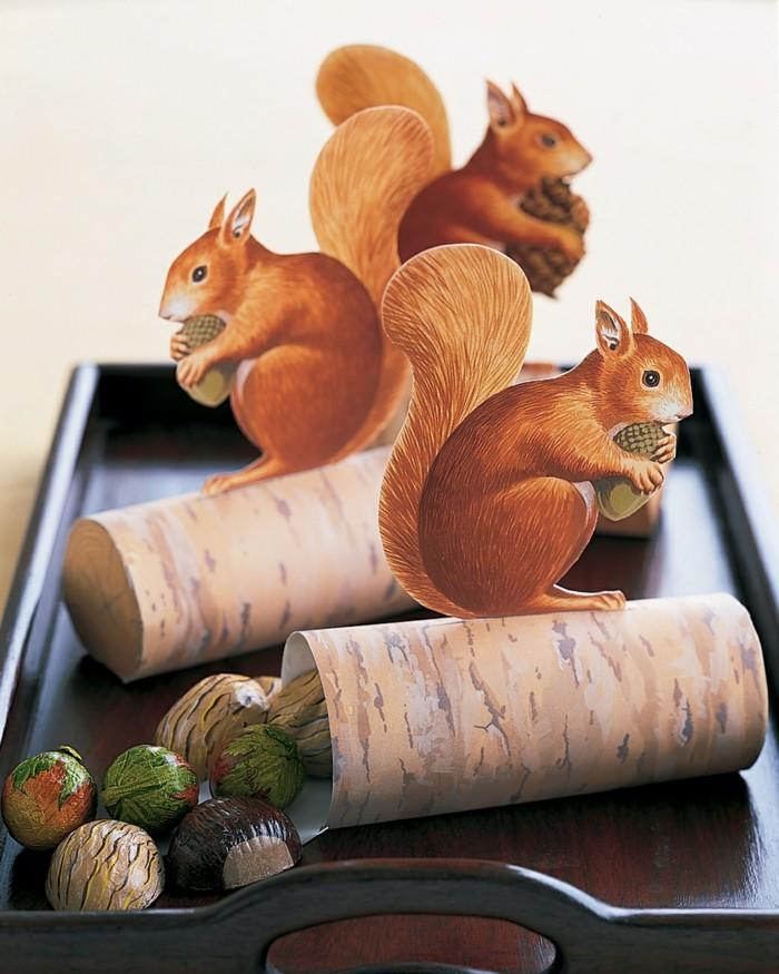 basteln-mit-kindern-eichhörnchen-basteln-auf-treibholz
