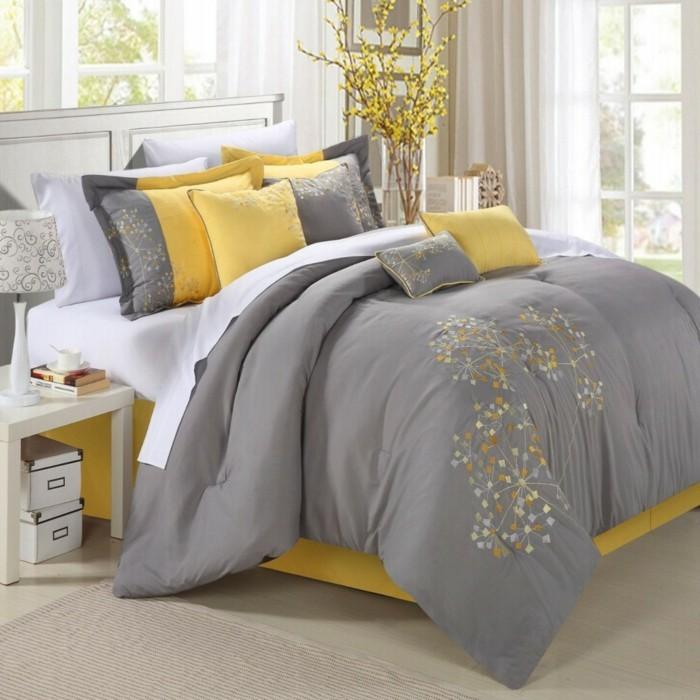 bettwasche-in-gelb-und-grau-fur-ein-modernes-schlafzimmer