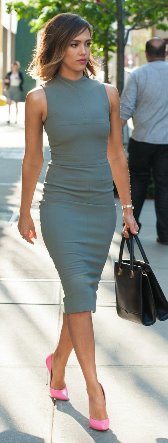 Graues Kleid Welche Schuhe