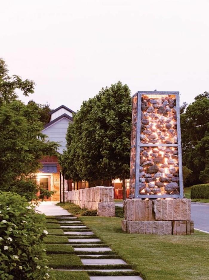 dekosteinewand-trockenbau-diy-licht-steinkorb-montiren
