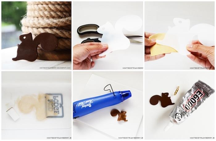 diy schritt für schritt anleitung brosche eichhörnchen basteln bastelvorlagen herbst zum ausdrucken kostenlose bastelideen für kinder leicht