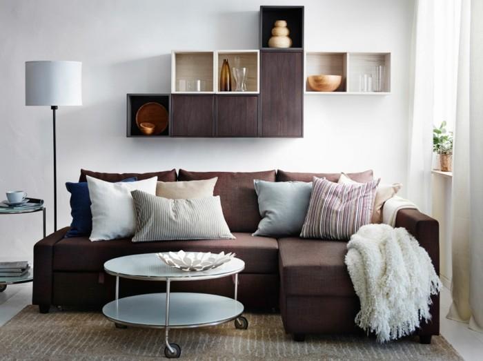 Eine Neue Wohnung Einrichten Deko Wohnzimmer Kissen