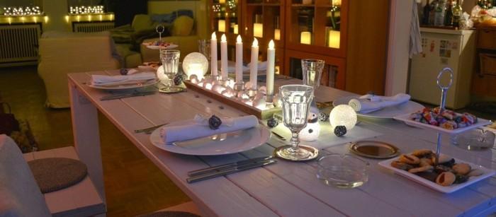 Ideen FUr Tischdeko Mit Holz ~ festliche tischdeko ideen fur weihnachten tischdeko mit kerzen