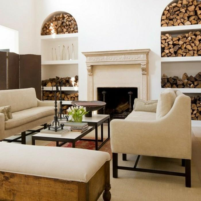 feuerstelleimwohnzimmer-wandnische-wohnungsdeko-kleines-wohnzimmer-beige-braun