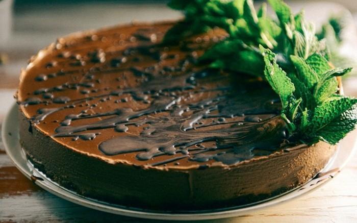 glutenfreier-kuchen-gesunder-glutenfreier-kuchen-minze-deko-schoko