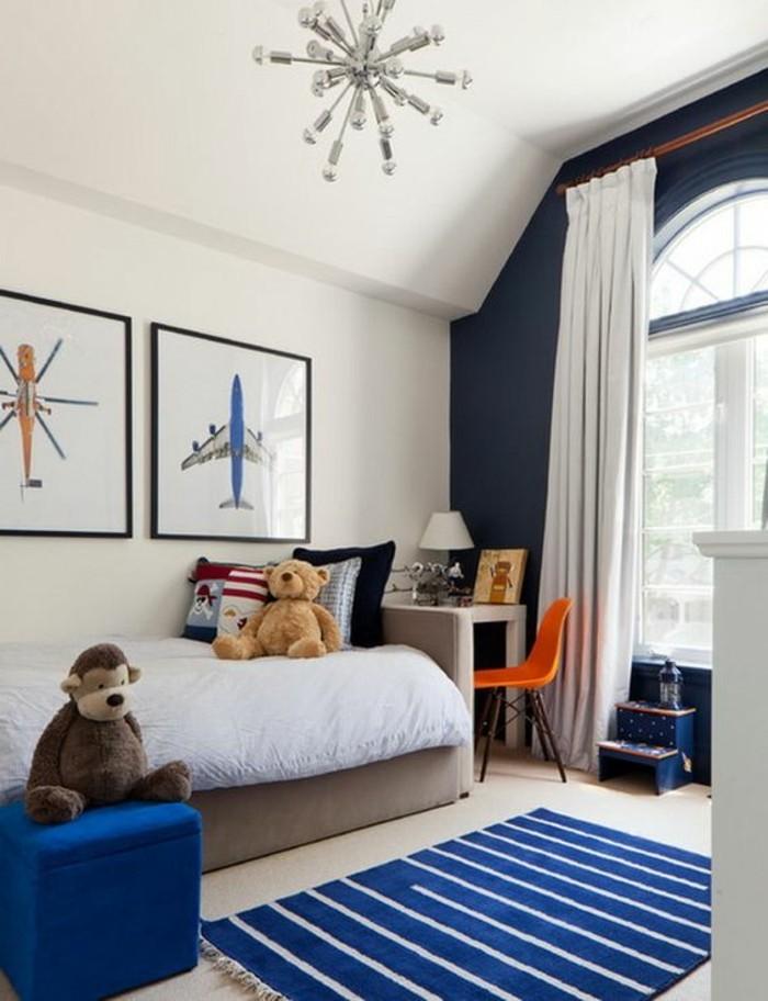 8 kinderzimmer jungen in wei mit blauen akzente - Kinderzimmer Junge Blau
