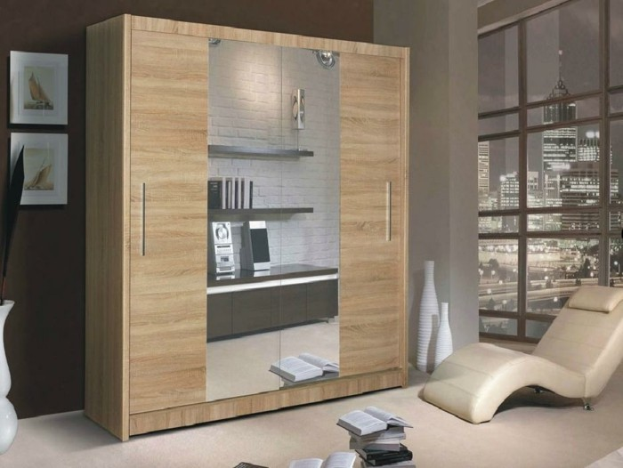 kleiderschrank spiegel kleiderschrank 3 t rig mit spiegel. Black Bedroom Furniture Sets. Home Design Ideas