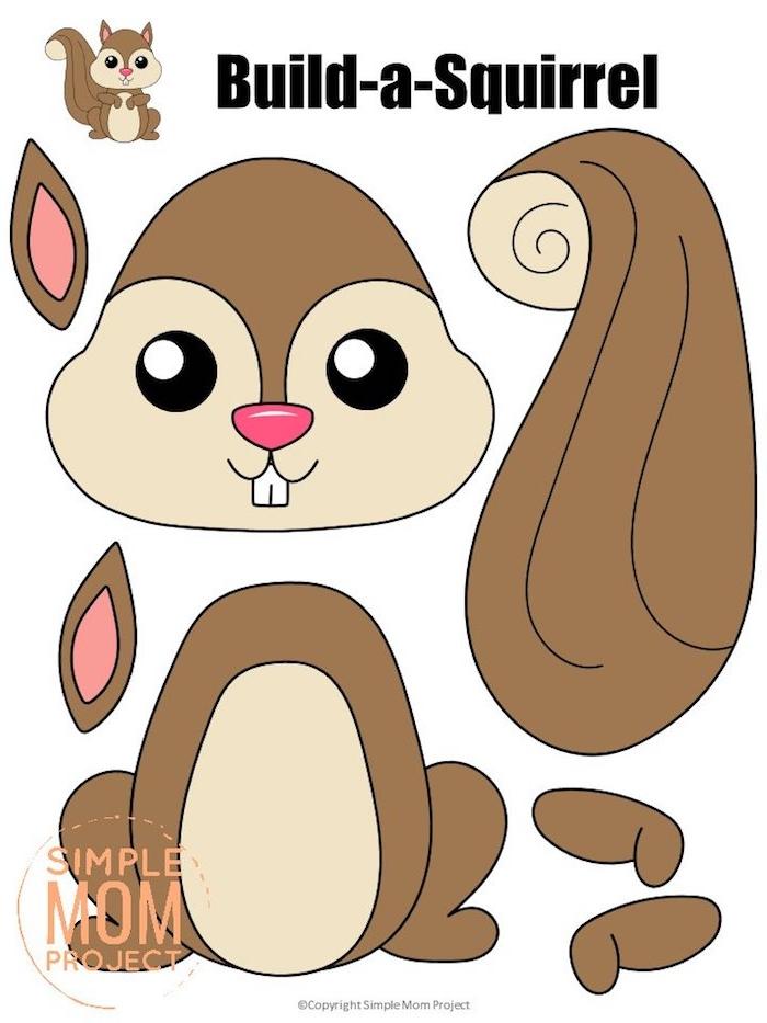 kostenlose bastelvorlagen herbst zum ausdrucken eichhörnchen basteln kreative bastelideen kinder ideen und inspiration kinder basteln