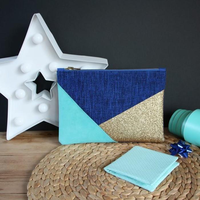 kreative-geschenkideen-geburtstagsgeschenkideen-kleine-tasche-blau-ung-gold