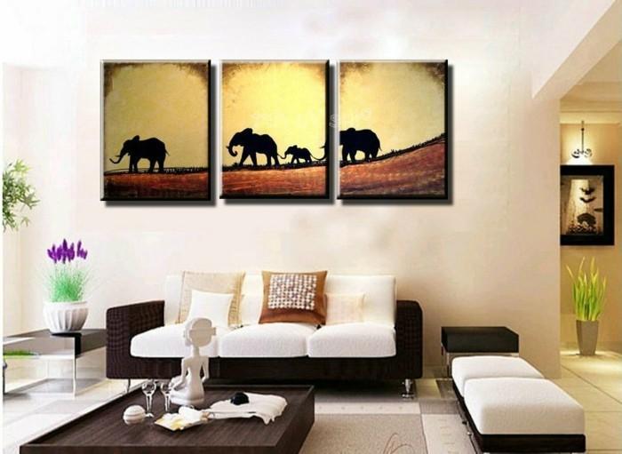 leinwandberucken-fur-komfortables-wohnzimmer-elefant-holz-blume