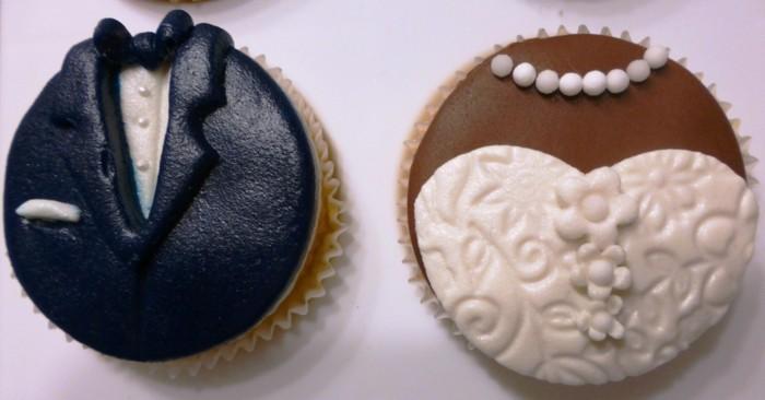 muffins-dekorieren-braut-und-bräutigam-süß