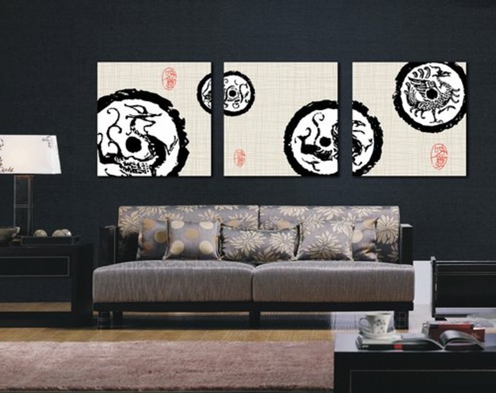 moderne-leinwandbilderxxl-wohnzimmer-asiatischer-stil-pflanzenmotive