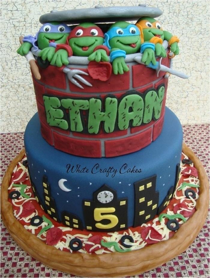 motivtorten-selber-machen-ninja-schildkroten-motivtorte-selber-machen-fondant-torte