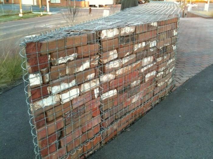 diy trockenmauer gabionen steinwand selber bauen ohne. Black Bedroom Furniture Sets. Home Design Ideas