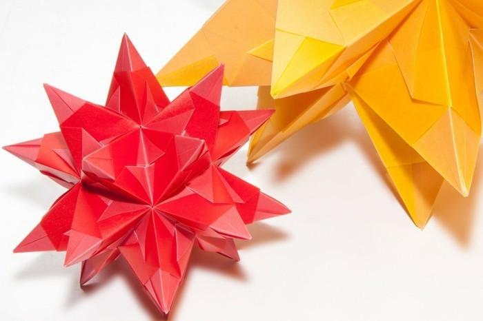 papier-sterne-als-weihnachtsdeko