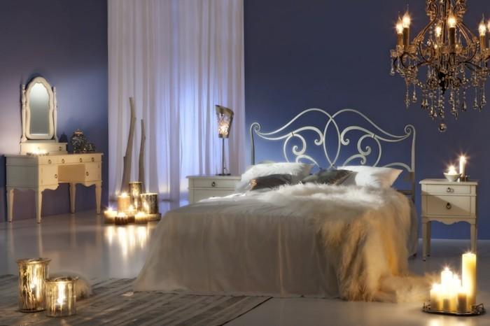 romantische-schlafzimmereinrichtung-lichtkerzen-romantischeatmosphare