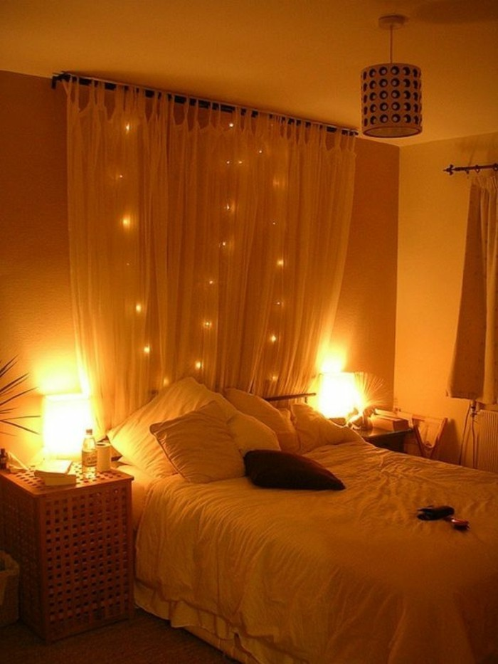 Fairy Lights Bedroom Canopy