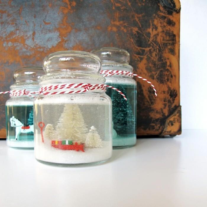 schneekugel basteln statt kaufen 58 einmalige ideen. Black Bedroom Furniture Sets. Home Design Ideas