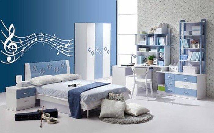 schlafzimmer wei blau gestalten ihr traumhaus ideen. Black Bedroom Furniture Sets. Home Design Ideas
