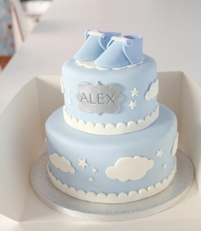 Simple Boy Baby Shower Cake