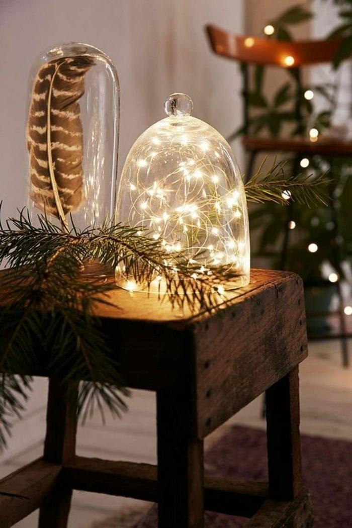 weihnachtendekoration-selber-machen-weihnachtsdeko-ideen-glaser-mit-lampen