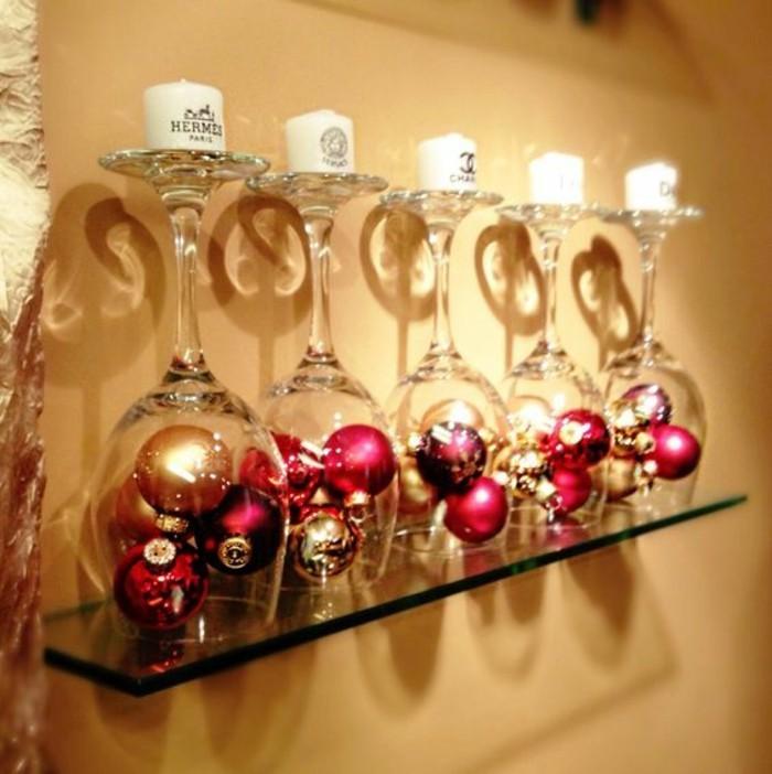 weihnachtendekoration-selber-machen-weihnachtsdeko-ideen-weinglaser-mit-kerzen