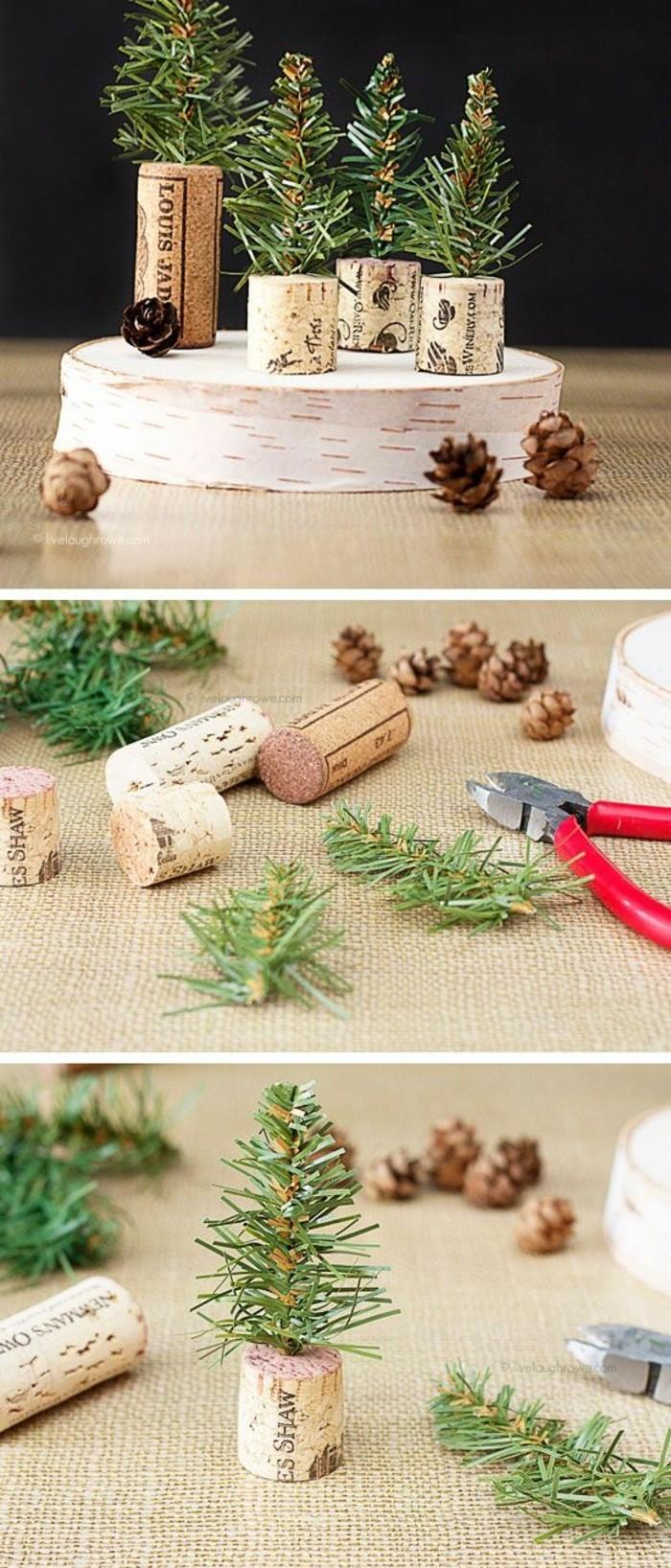 weihnachtendekoration-selber-machen-weihnachtsdeko-selber-machen-kleine-wehnachtsbaume