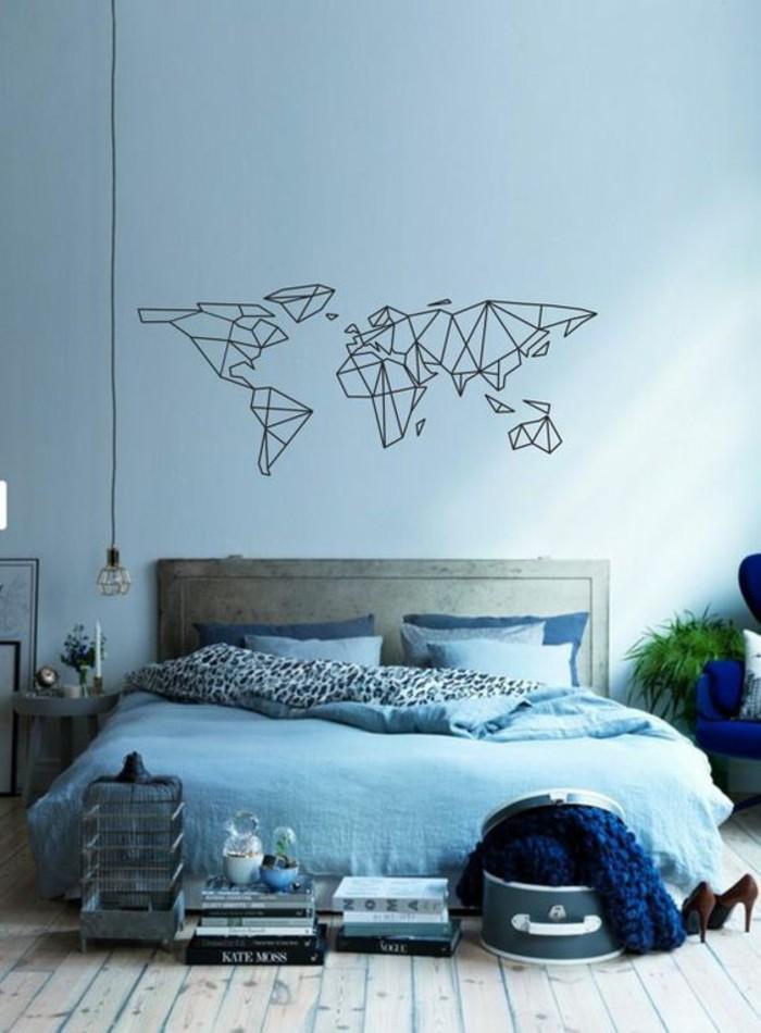 weltkarte-abenteurer-schlafzimmer-blau