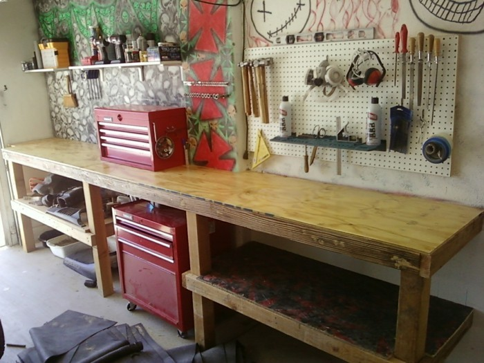 Elegant Garage Workbench Storage Ideas Compilation