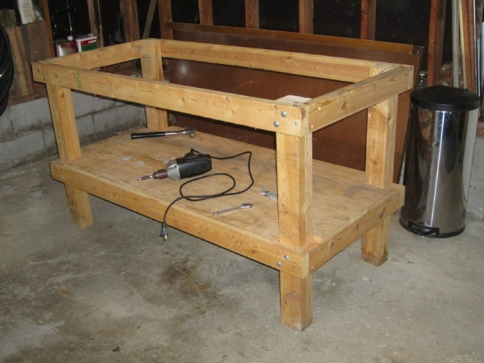 werkbank aus metall selber bauen werkbank manuflex profi. Black Bedroom Furniture Sets. Home Design Ideas