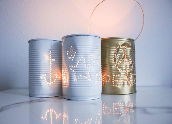 windlicht weihnachten selbst gestalten einfach blechdosen