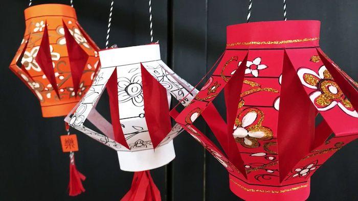 windlichter selber machen papier kinder chinesische deko bunt