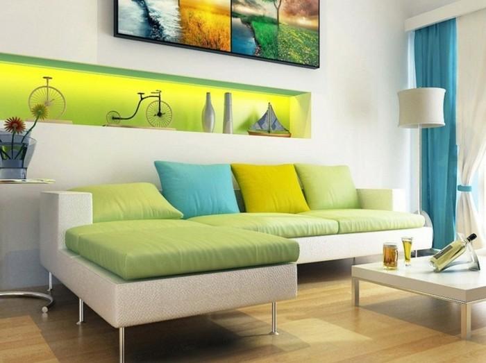 wohnungsdeko-modernes-wohnzimmer-farbkombination-weis-grun-helles-wohnzimmer