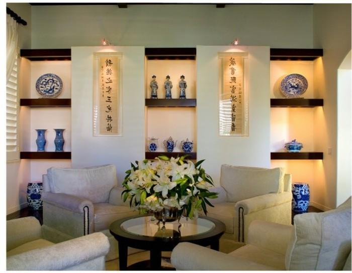 Wanddeko wohnzimmer dekorative wandnischen for Moderne wohnungsdeko