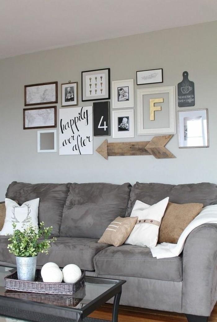wohnzimmer deko grau:Wohnzimmer Deko Ideen im modernen Still in beige und grau gestalten